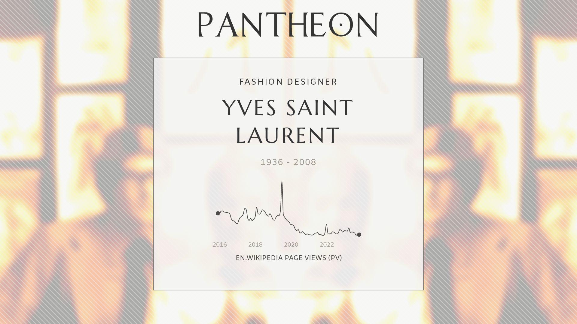 Yves Saint Laurent Biography Pantheon